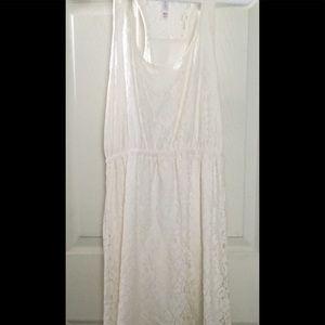 Xhilaration Dresses - Sweet Dress , high low White lace.  size m.